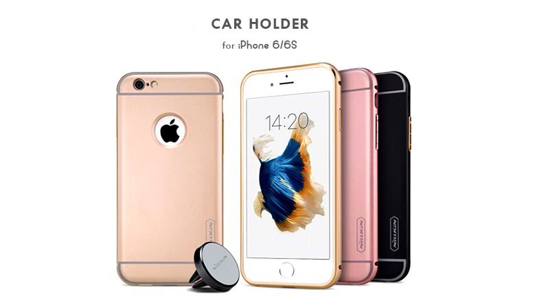 Металлическая накладка + Автодержатель Nillkin для Apple iPhone 6/6s